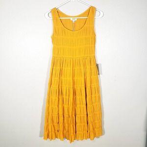 Max Studio Golden Ruffle Boho Vacation Dress
